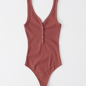 A & F Ribbed Henley Bodysuit